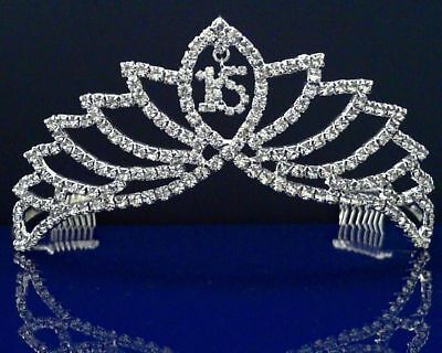 SparklyCrystal Sweet 16 Birthday Princess Party Prom Crown Crystal Tiara 672S
