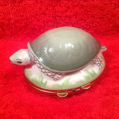 Vintage French Limoges Porcelain de Paris Turtle Dresser Box, p191 GIFT QUALITY!