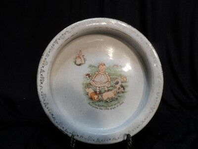 Vintage Ironstone McNicol East Liverpool OH Holdfast Baby Bunting Plate