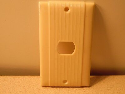 Vintage Single Despard Switch Plate Bakelite? P&S / Uniline Ribbed & Striated