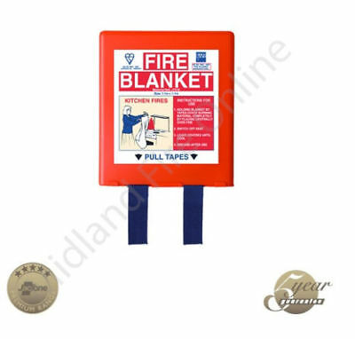 🔥SAFETY FIRE BLANKET PROTECTION 1.2M x 1.2M HARD BOX PICK UP FROM HACKNEY