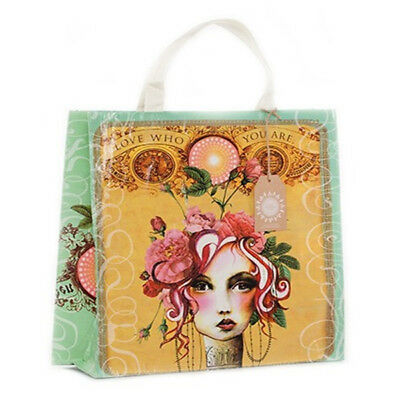 PAPAYA! Art ROSE Love Who You Are Market Shopper Shopping Bag Tote