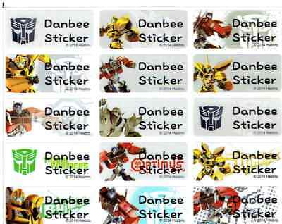 Medium Transformers Personalised Name Stickers, Name Labels,30x13mm, Waterproof