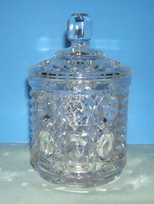 Button and Cane Windsor Marmalade Jar with Lid by Federal Glass