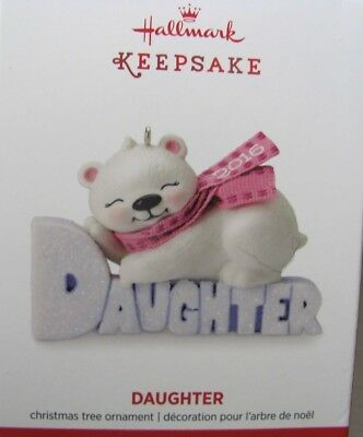 "Hallmark Keepsake Ornament 2016 ""Daughter"" New In Box"