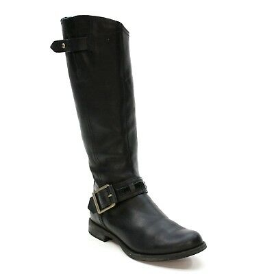 Timberland Ladies 6.5 W Earthkeepers Savin Hill Tall Black Leather Boots 8549R