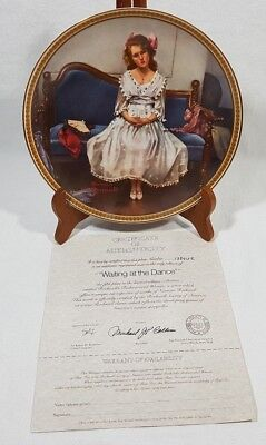 Norman Rockwell Waiting At The Dance Collector Plate #13846E Edwin Knowles