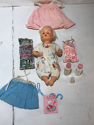 """Vintage Tiny Tears Doll American Character 13"""" Rubber Body Cry Baby"""