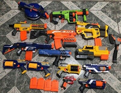 Nerf Gun Lot of (14) Hail Fire, Maverick, Deploy And More !