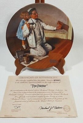 Norman Rockwell The Painter Collector Plate #AI 6265 Edwin Knowles