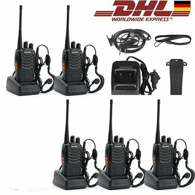 5X Baofeng Dual band Handfunkgerät Walkie-Talkie BF-888S CTCSS/CDCSS Headset |ES