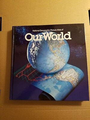 National Geographic Picture Atlas of Our World 1990 Hardcover - Very Good Cond