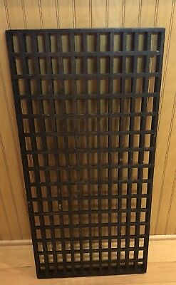 Antique Wooden Solid Oak Floor Grate Nice Patina 14 3/8 In By 30 In By 1 5/8 In