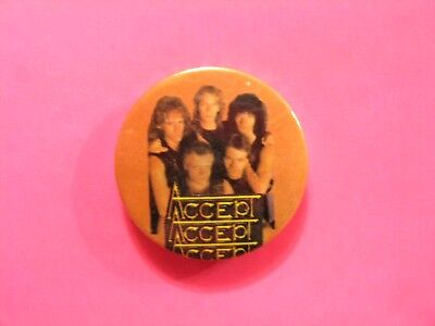 Accept Vintage Badge Button Pin Not Patch Cd Lp Shirt Poster Uk Made