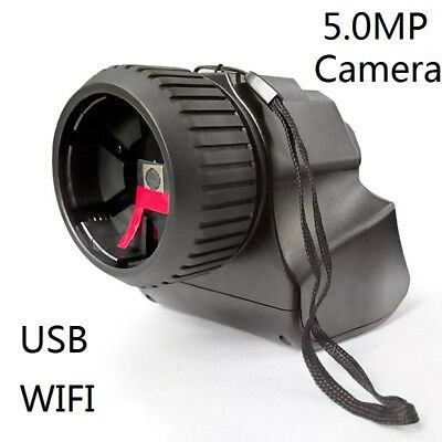 5.0MP WIFI USB Camera Microscope Electronic Eyepiece f/ Telescope Spotting Scope