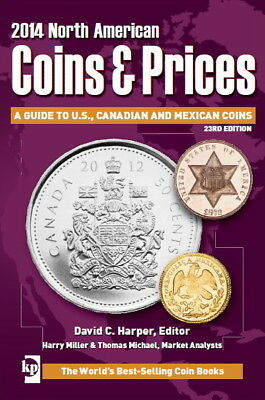 """Book """"2014 Coins & Prices Guide To Us, Canadian And Mexican Coins"""" - 722 Pag."""