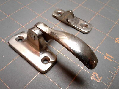 Kitchen Cabinet Latches Left Hand STANLEY Nickle Plated No. 1292 N VTG