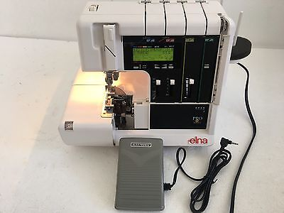 ELNA PRO 905 DCX SERGER COMPUTERIZED 5-THREAD SEWING MACHINE as is for parts