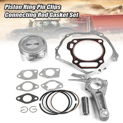 Piston Ring Pin Clips Connecting Rod Gasket Kit For 13HP HONDA GX390 Engine