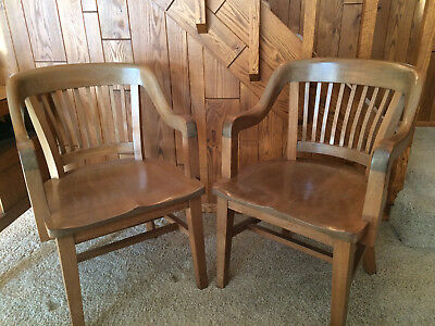 Antique Pair of Milwaukee Lawyer, Courtroom Chairs