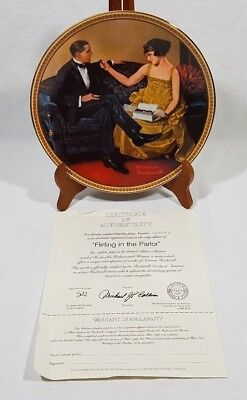 Norman Rockwell Flirting In The Parlor Collector Plate #16202 D Edwin Knowles