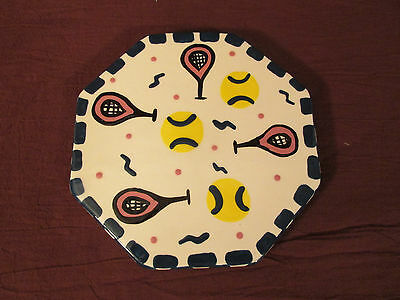 1999 Hand Made Trivet Hot Plate Bette Abrams Diamond In The Rough  Pottery