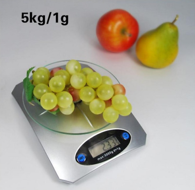 5Kg Digital Lcd Electronic Food Postal Weighing Scales Glass Kitchen Cooking