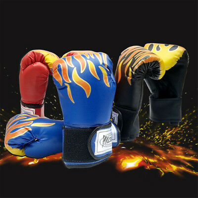 Children Kids Boxing Sparring Training Gloves MMA Kick Boxing Punching Gloves EA