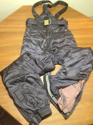"""NEVICA SKI BIBS PANTS USA SIZE 26x29"""" WITH RECCO RESCUE SYSTEM BLACK"""