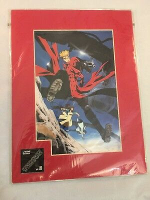 TRIGUN Limited Edition 196/500 Matted Art Transparency (MAT) Collectable W/ COA