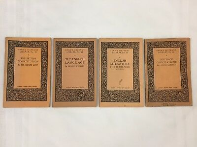 LOT OF 4 ANTIQUE BOOKS FROM 1930s-BENN'S SIXPENNY LIBRARY-ENGLISH, MYTHS, ETC.