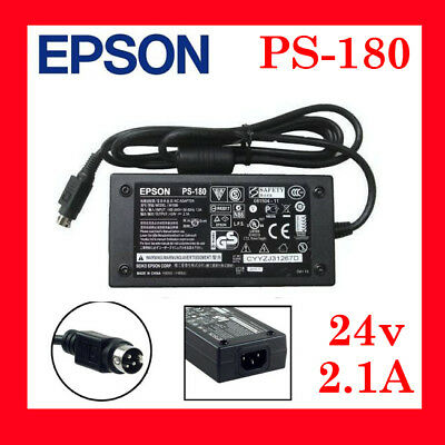 3 Pin EPSON PS-180 M159D Power Ac adapter for POS Receipt Printer 24v 2.1A