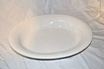 Vintage White Large Oval Serving Ceramic Platter Plate made in Portugal 16""