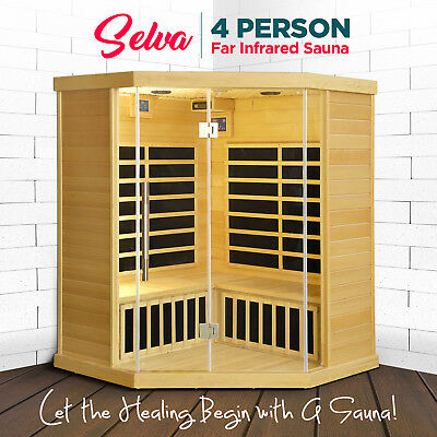 4 Person Far Infrared Sauna Indoor Loss Weight Body Detox Box Slimming Skin Spa