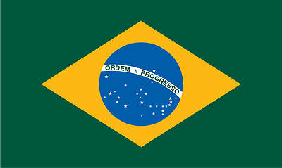 3Ft X 5Ft  Brazil Flag *2014 World Cup in Brazil*  Metal Grommets, Banner & Flag