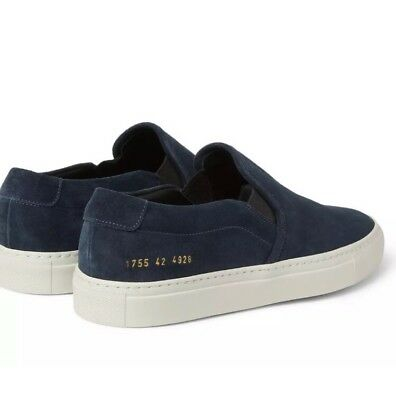 917d5358ebbf0 WOMAN S BY COMMON PROJECTS Slip-On Sneakers Navy Blue Suede 38 (US 8 ...