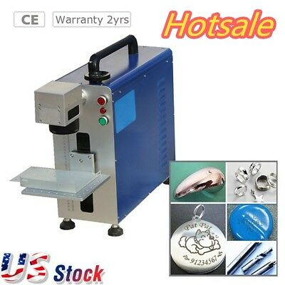 110V Upgrade Portable 20W Fiber Laser Marking and Engraving Machine,Ratory Axis