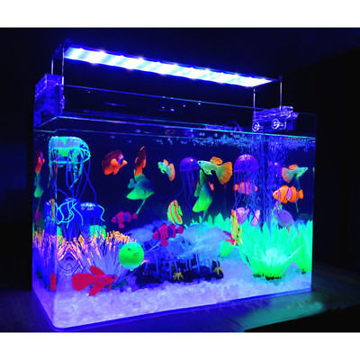 Water Ornament Aquarium Fish Tank Landscaping Decor Glowing Effect Animal Plant