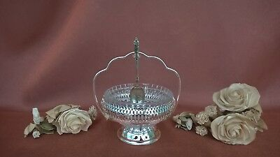 Queen Anne Silver Plated Jam Preserve Dish With Nickel Silver Spoon