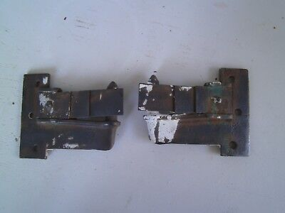 """2  Antique Spring Loaded Storm Window or Shutter Hinges  4"""" x 3 1/2""""  Pat. 1870"""