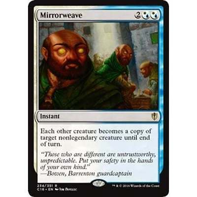 1x MIRRORWEAVE - Rare - Commander - MTG - NM - Magic the Gathering