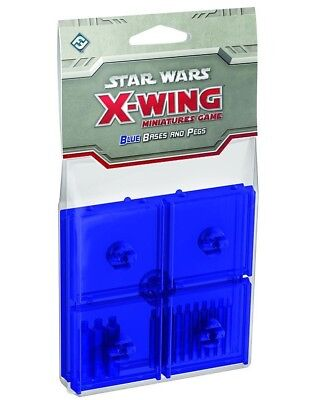 Star Wars X-Wing Blue Clear Bases and Pegs Expansion Pack Base Upgrade 5 Base