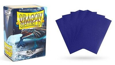 Dragon Shield - Mat Blue 100 Protective Sleeves Cases Standard Card Holder