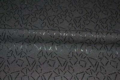 Gold//Black SALE!! Coated Waffle Textured Plain Jersey Dress Fabric Material