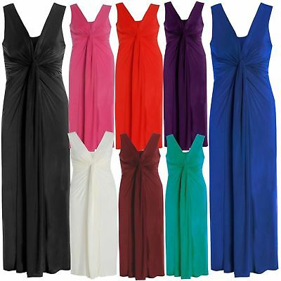 Goddess Long Jade Cleavage Panel Grecian Maxi Evening Dress Party Prom Ball