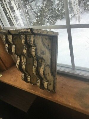 Set Of 2 Rustic victorian wood corbels med.8 X12 X3 Inch