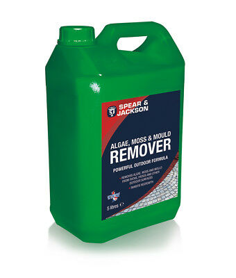 5L Spear & Jackson Mould, Algae & Moss Remover NEW  Ready to Use