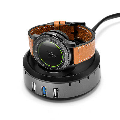 Balerion-Gear S3 and Gear S2 smart watch QI wirless Charger/Charging dock with 3