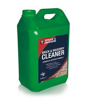 Spear & Jackson 5L Brick and Masonry Cleaner NEW  Ready to Use