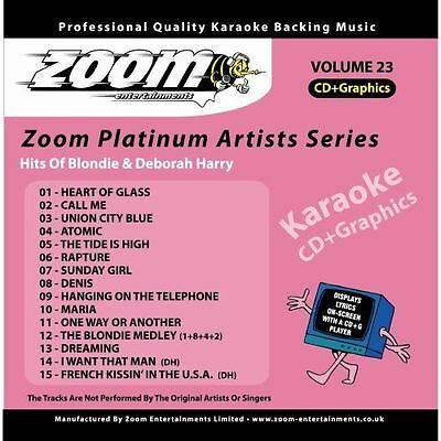Zoom Karaoke Platinum Artists Series Volume 23 Hits Of Blondie CD + G New Sealed